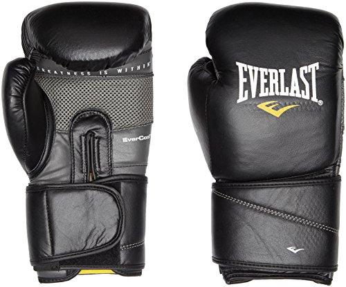 Everlast Erwachsene Boxartikel 3200 Velcro Protex 2 Leather Training Gloves, Black, 16
