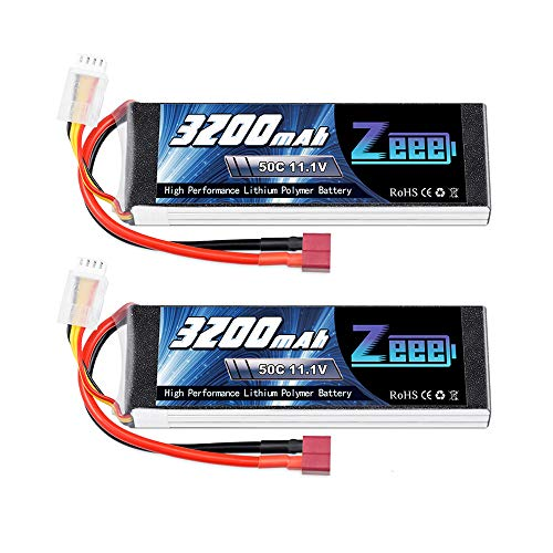 Zeee 11.1V 3200mAh 3S Lipo Battery 50C Soft Case Battery with Deans T Connector for RC Airplane RC Helicopter RC Car RC Truck RC Boat UAV Drone FPV(2 Pack)