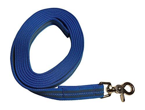 DOGS and MORE - Gummierte Schleppleine/Suchleine/Feldleine mit Reflektionsstreifen => 3 Meter (ohne Handschlaufe) - Orange, Blau oder Lila
