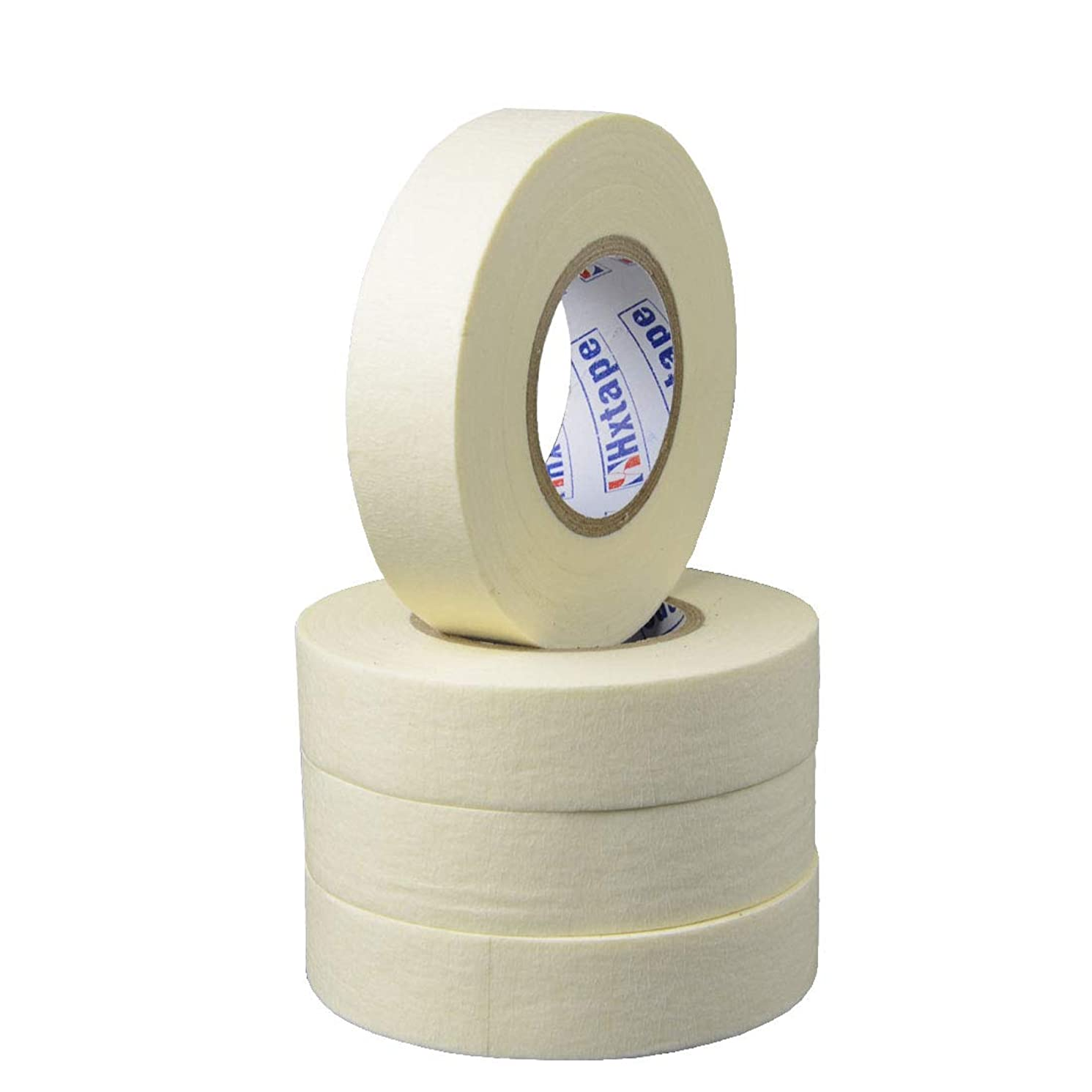 Hxtape White Masking Tape,Multi Size Choices,Easy Tear Multi-Use Tape,Adhesive Leaves No Residue,Great for Labeling, Painting, Packing (3/4