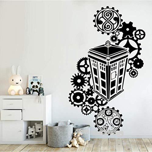 Wandaufkleber Dekoration 94 cm * 56 cm Tardis Doctor Who silhouette Wandaufkleber Vinyl Aufkleber berühmte polizei box Kinder schlafzimmer Wohnzimmer Kinderzimmer Dekor Wandbilder