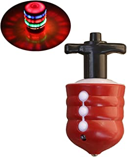 OMGOD LED Lights Spinner Spinning Top Toy, Colorful Flashing LED Lights and Music Gyro Gyroscope peg-top, Halloween Christmas Birthday Best Gifts for Kids Toddler Boys Girls