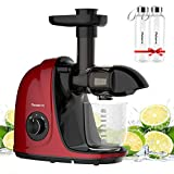 Picberm Masticating Juicer, Slow Juicer Machines Easy to Clean, Quiet Motor, Anti-Clogging, Soft &...