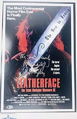 Ra R.a. Mihailoff Signed Texas Chainsaw Massacre 12x18 Photo Poster Bas G72463 Autograph Autographed Horror