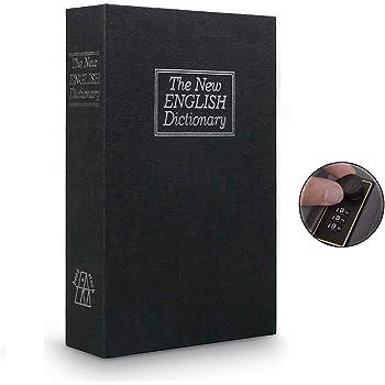 Langtor Caja Fuerte para Libros con Cerradura de Combinación, Caja Fuerte Portátil, Ideal para Guardar Dinero, Acero(Pequeño, Negro): Amazon.es: Bricolaje y herramientas