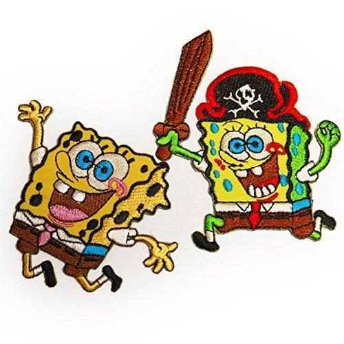 spongebob 2Pセット SET スポンジボブ キャラクター ワッペン イエロー