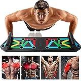 Lineluck Liegestütze Brett, Upgrade 13 in 1 Push Up Rack Board Fitnessgeräte ideal für Home Training, Einzigartige Farbcode für Verschiedene Muskelgruppen Trainieren