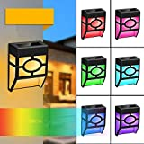 8PCS <span class='highlight'><span class='highlight'>Solar</span></span> <span class='highlight'>Fence</span> <span class='highlight'>Light</span>s, 2 Modes LED <span class='highlight'><span class='highlight'>Solar</span></span> Wall Outdoor <span class='highlight'>Light</span>, Waterproof <span class='highlight'><span class='highlight'>Solar</span></span> <span class='highlight'>Light</span>s Wireless Outdoor <span class='highlight'>Light</span>s for Deck Garden, Patio, <span class='highlight'>Fence</span>, Yard, Garden, Garage, Wall (8Pack-Multi-Color)