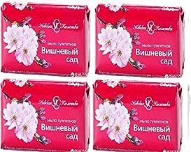 Nevskaya Cosmetics Spring Fragrances Toilet Soap Cherry Garden 90g/Невская Косметика Весенние Ароматы Туалетное Мыло Вишневый Сад 90гр