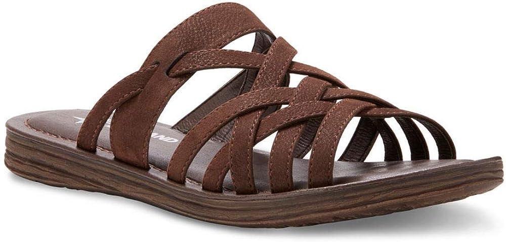Eastland Women's Woven Slide Flat Sandal