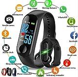 S&M TREADE - Smart Band Watch Bracelet Wristband Fitness Tracker Blood Pressure HeartRate M3s (Black)