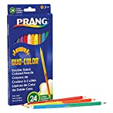 Prang X22112 Duo Pencils, 24, Assorted Colors 12 Count