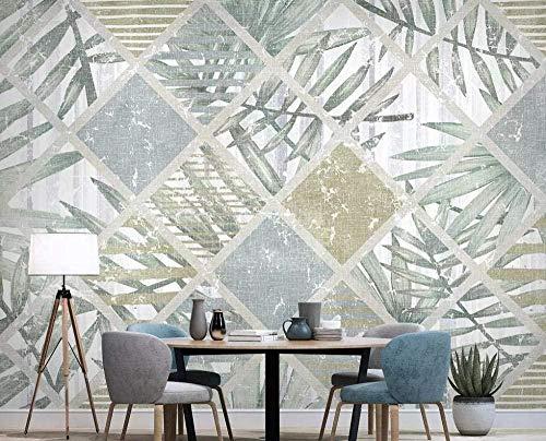 ZZXIAO Nordische tropische Pflanzen geometrische Linien Tapete Vlies Tapete 3D Tapete moderne Wandbilder Wa wandpapier fototapete 3d effekt tapete Wohnzimmer Schlafzimmer Hintergrundbild-400cm×280cm