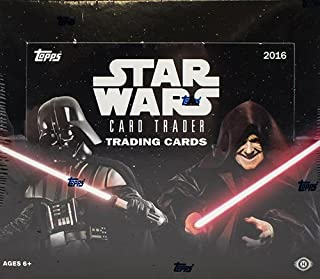 Topps 2016 Star Wars Trader Hobby Box - 144 Collector's Cards & Free Digital Pack