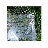 Transparente Impermeable Cubrir Hoja Lona, PVC Transparente Lona Impermeable, Funda Multiusos para Balcón Plantas Refugio Camping Pesca YAYADU (Color : Claro, Size : 2.40x4.00m)