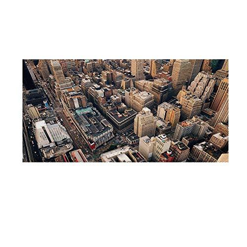 CZZ Vinilo del Piso del Vinilo Etiqueta del Piso Pegatinas para el Piso Creativo Nueva York Pegatinas de Pared Decorativas Antideslizante Resistente al Agua Papel Tapiz Autoadhesivo Eco amigable PVC