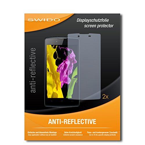SWIDO Schutzfolie für Oppo Neo 5 [2 Stück] Anti-Reflex MATT Entspiegelnd, Hoher Festigkeitgrad, Schutz vor Kratzer/Bildschirmschutz, Bildschirmschutzfolie, Panzerglas-Folie