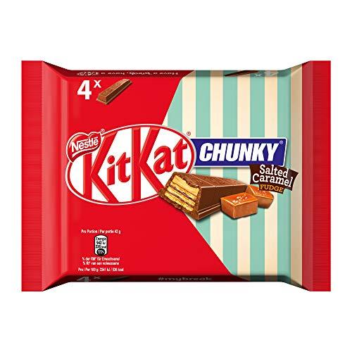 KitKat Chunky Salted Caramel Fudge (4x42g Schokoriegel mit gesalzenem Karamellgeschmack)