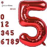 Grande Numero Palloncini Mylar Foil Gas Elio Balloons Festa Forniture Compleanno (5)