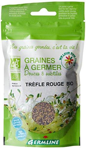 Germ'Line Graines Trèfle Rouge à Germer 150 g - BIO - Lot de 2