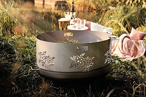 Czaja Funkenschutz Blumenmotiv für alle Feuerschalen Ø55cm
