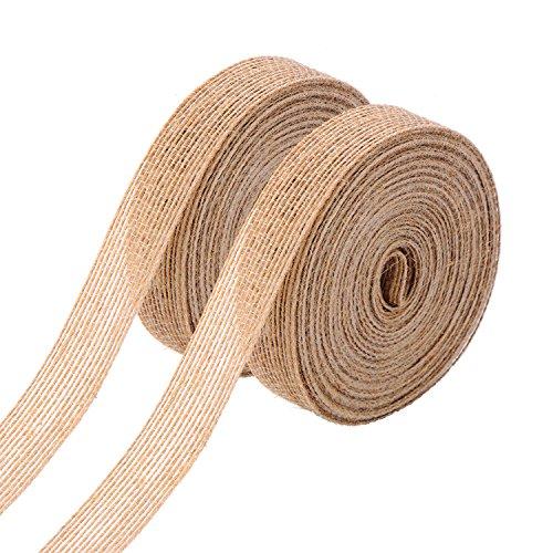 Natural Burlap Fabric Ribbon Roll