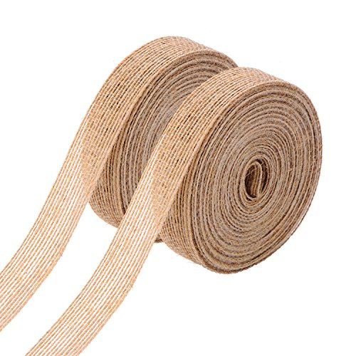 Natural Burlap Fabric Ribbon Roll
