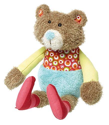 sigikid, Mädchen und Jungen, Stofftier Bär, Patchwork Sweety, Braun/Bunt, 38706