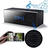 Hidden Camera Clock in Bluetooth Speaker with Night Vision, Wireless Hd 1080P Nanny Cam, Motion Detection WiFi Smart Security Monitoring Home Office Shop,Up to 128G