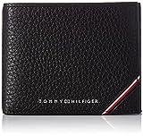 Tommy Hilfiger TH Downtown, Accesorio Billetera de Viaje para Hombre, Black, Talla única