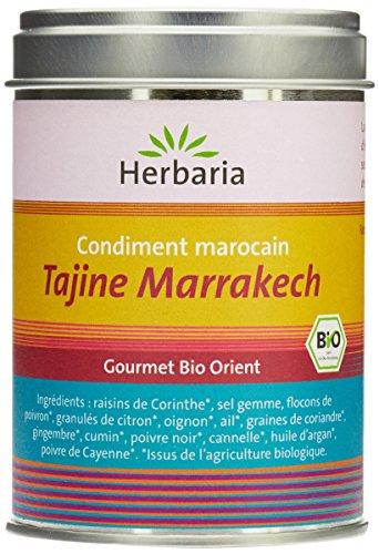 Herbaria Tajine Marrakech Preparation d'Epices pour Tajines Marocaines en Marmite Traditionnelle Boite gourmet bio orient - 100 g