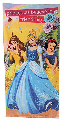 New Disney Princess Beach, Bath, Pool Towel - 100% Cotton - Size 28'' x 58'' Inches