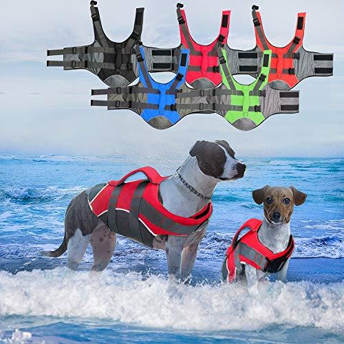 XINHUANG Große Hundeschwimmweste für Hunde, Labrador, Golden Retriever, Surfen, Schwimmweste (Farbe: Blau, Größe: M)