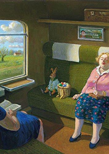 Postkarte A6 • 15096 ''Osterhase im Zug'' von Inkognito • Künstler: Michael Sowa • Ostern