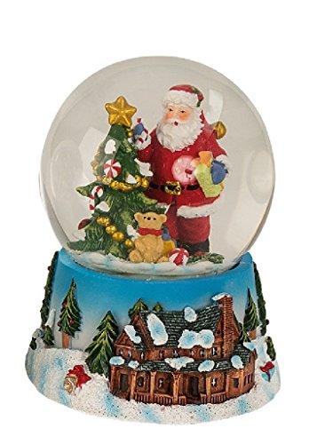 Geschenkestadl Schneekugel Weihnachtsmann 14,5 cm