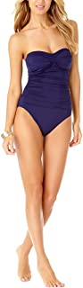 New Navy Twist Front Bandeau ONE Piece