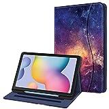Fintie Hülle für Samsung Galaxy Tab S6 Lite, Soft TPU Rückseite Gehäuse Schutzhülle mit S Pen Halter & Dokumentschlitze für Samsung Tab S6 Lite 10.4 Zoll SM-P610/ P615 2020, Die Galaxie
