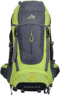 KINDOYO 65L + 5L Hiking Backpack - Large Rucksack for Men Women, Water-Resistant Ideal for Camping Trekking Travel Outdoor