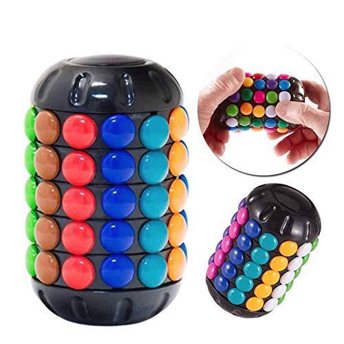 Babylon Tower Rubiks Cube, Brain Teaser Mind Doblando Botón Twist Slide Toy, Cilindro Rubiks Cubo Rubik Torre Creativa Inteligencia Descompresión Juguete
