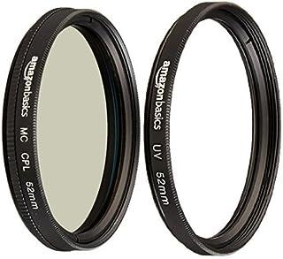 Amazon Basics Filtre polarisant circulaire - 52mm & Filtre de protection UV - 52mm