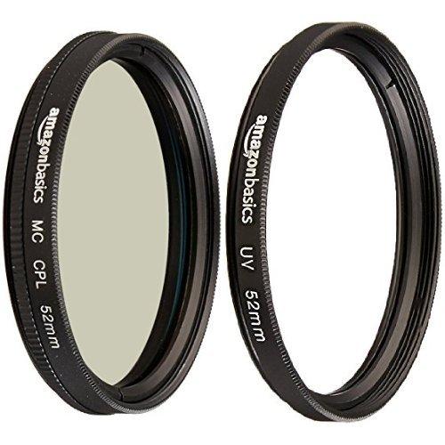 Amazon Basics - Polarizzatore circolare - 52mm & Filtro di protezione UV - 52mm