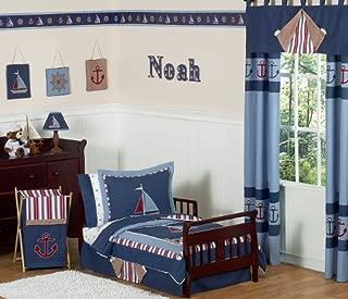 Sweet Jojo Designs 5-Piece Nautical Nights Boys Sailboat Toddler Bedding Set