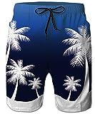 TUONROAD - Bañador para hombre con estampado 3D divertido, de secado rápido, para verano, casual, con forro de malla, S-3XL Azul marino hawaiano XL