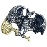 Naisde Halloween Bat de jardín Adorno de Resina al revés de la Estatua de murciélago Espeluznante Espeluznante Escultura de murciélago Halloween al revés Dow