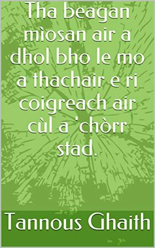 Tha beagan mìosan air a dhol bho le mo a thachair e ri coigreach air cùl a 'chòrr stad. (Scots Gaelic Edition)