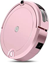 Robotic Vacuum Cleaner 3 in 1, Robot Vacuum, Sweep Mop 3 in 1 Automatic Cleaning Robot, 1200Pa High Suction, Anti-Drop Collision Sensor, Super-Thin, Super Quiet, Works on Hard Floor To Carpet,Pink