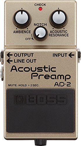 BOSS Ad-2 Acoustic Preamp Guitar Pedal, Acoustic-Electric Guitar Preamp with Advanced BOSS Sound Processing