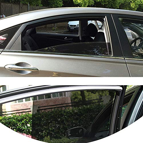 ELECTROPRIME 2pcs Car Curtain Windshield Stickers Auto Sun Shade Window Durable PVC UV Film