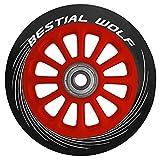 Bestial Wolf Rueda Pilot para Scooter Freestyle, Diámetro 100 mm (rojo)