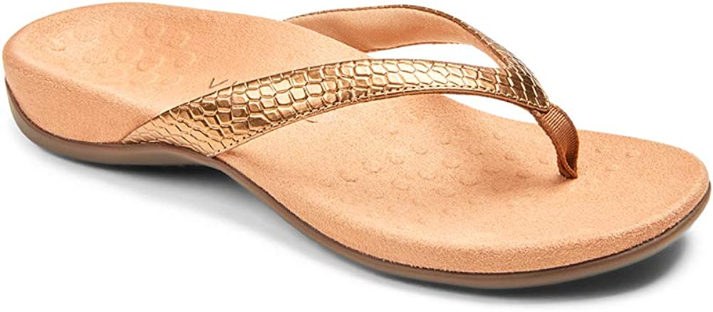 Vionic Women's Rest Dillon Toe Post Sandals- Supportive Ladies Sandals That Include Three-Zone Comfort with Orthotic Insole Arch Support, Sandals for Women, Flop Flops